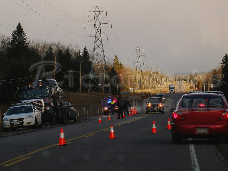 Accident Cleanup on the Trans Canada Highway, Rictographs Images