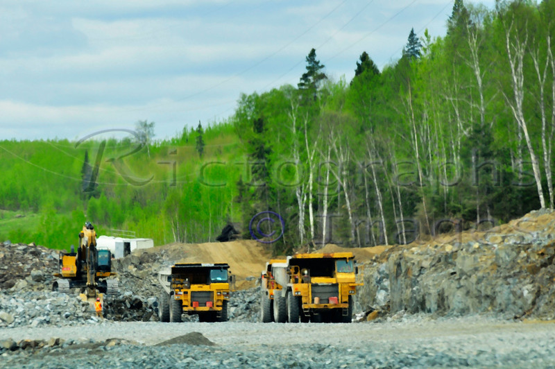 Construction on the Trans Canada Highway,